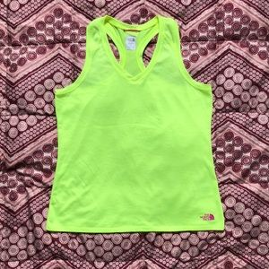 North face workout shirt - neon green